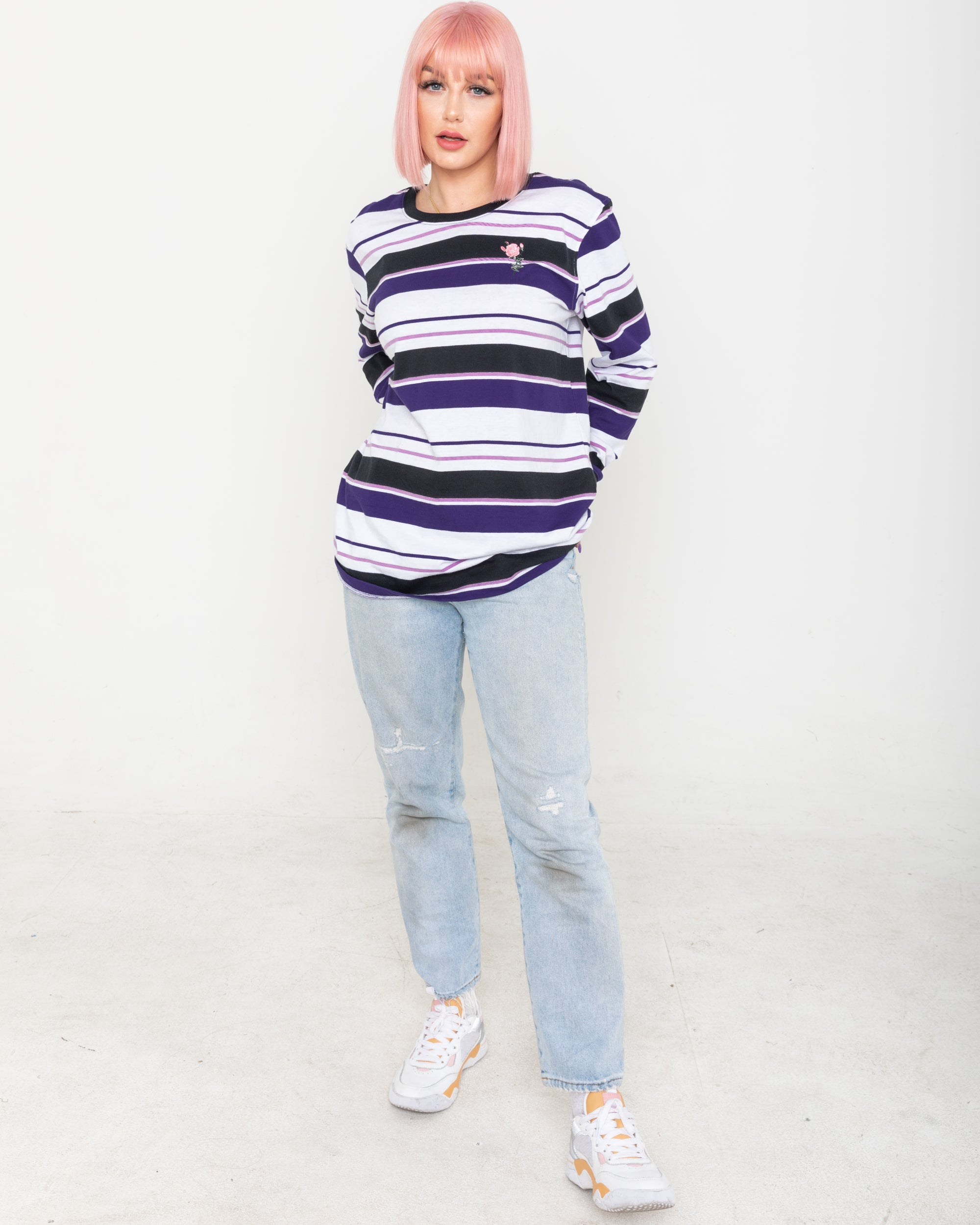 Let Me Go Purple Striped Long Sleeve
