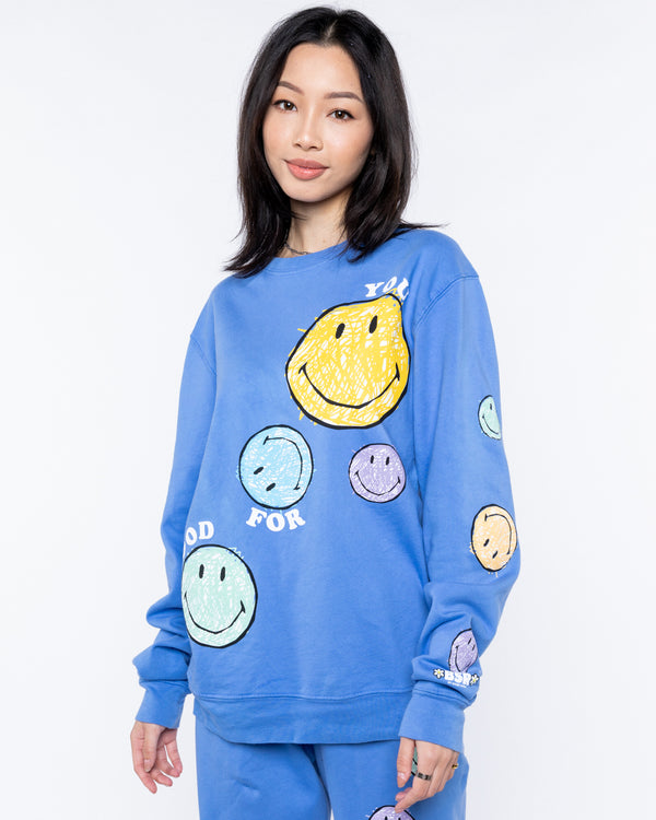 Good For You Crewneck, Blue