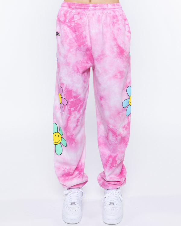 Lil Thang Tie-Dye Sweatpants, Pink