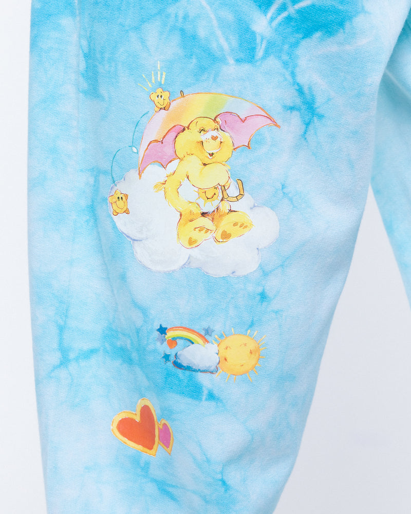 Raining Care Bears Sweatpants, Blue