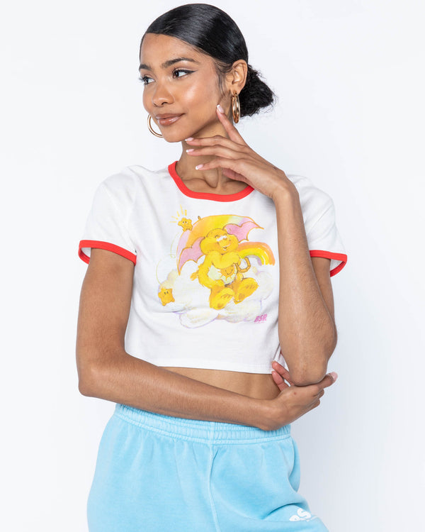 Raining Care Bears Ringer Tee