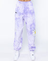 Smiley In Bloom Purple Sweatpants