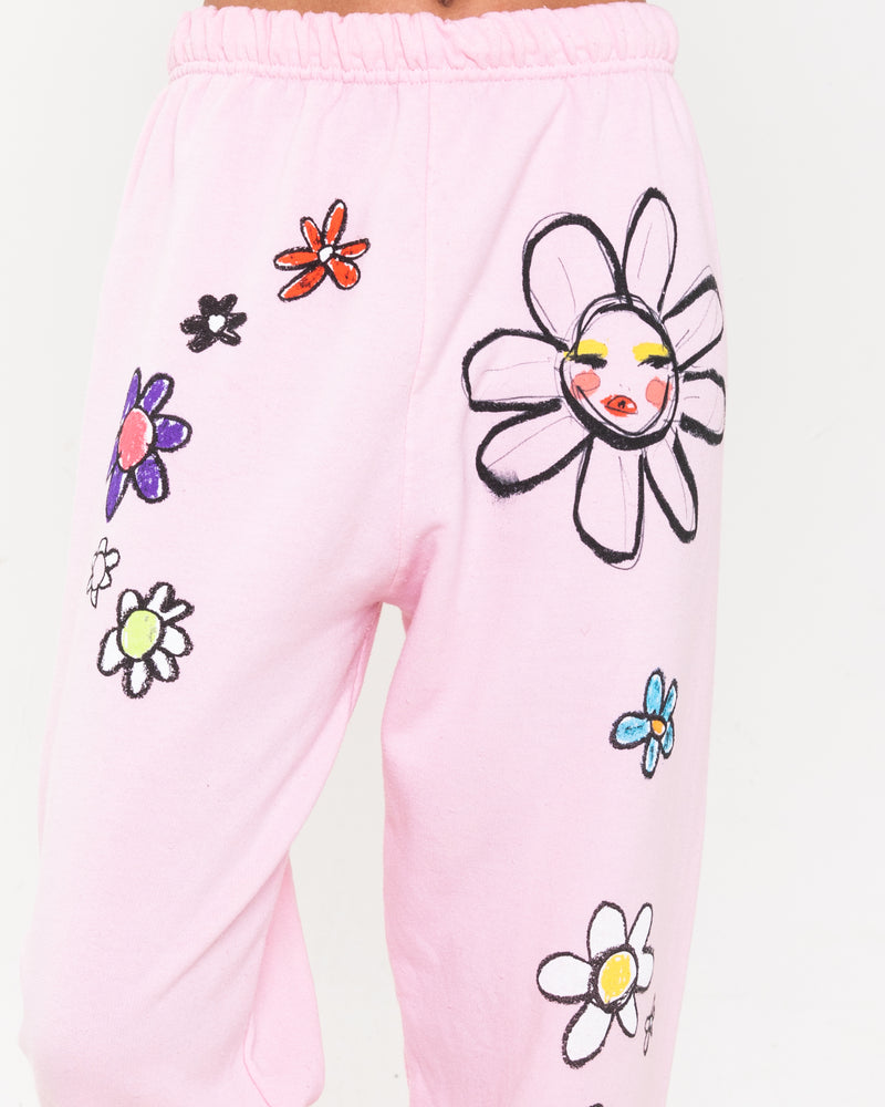 Eat The Daisies Pink Sweatpants