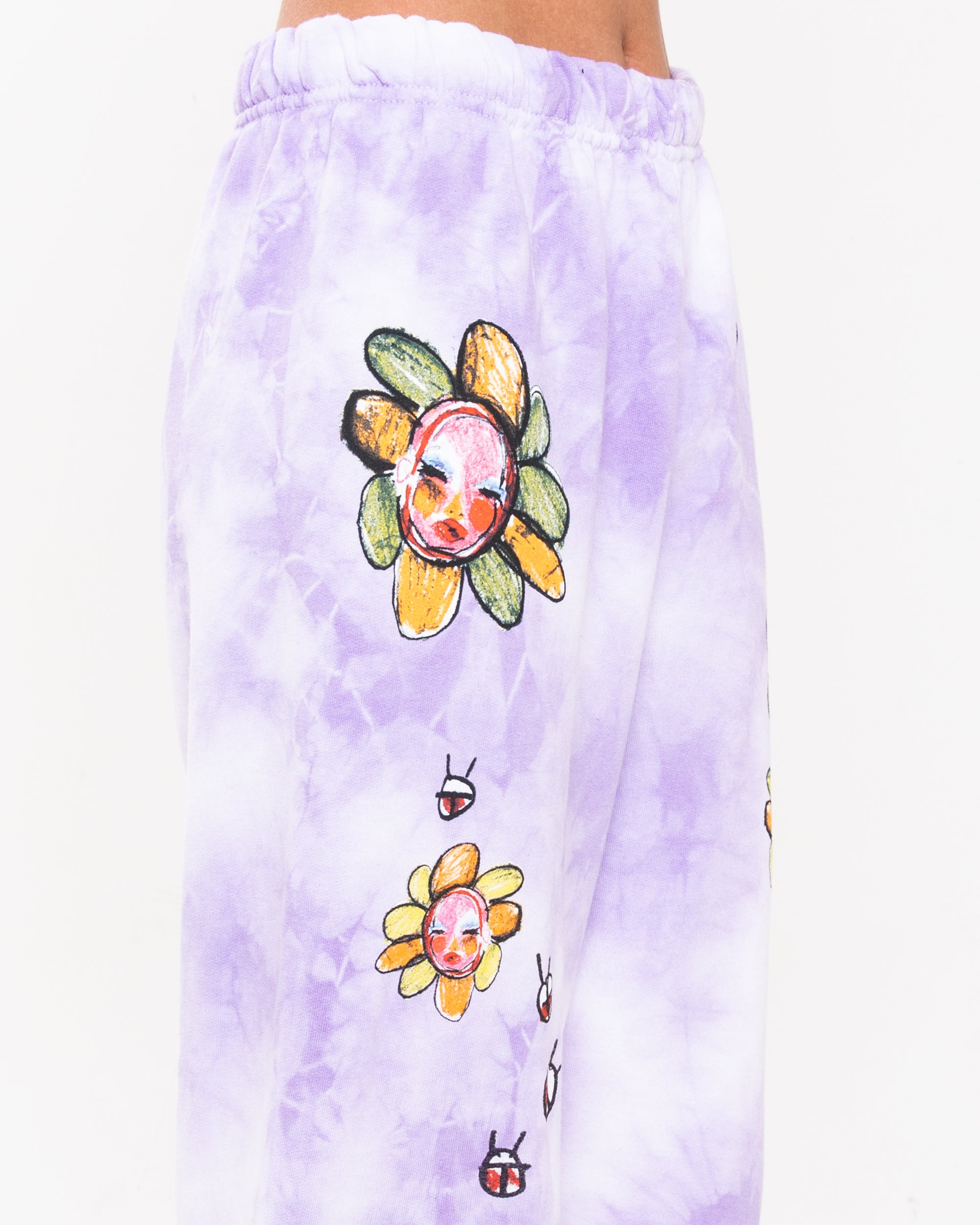 Garden Girls Purple Tie-Dye Sweatpants