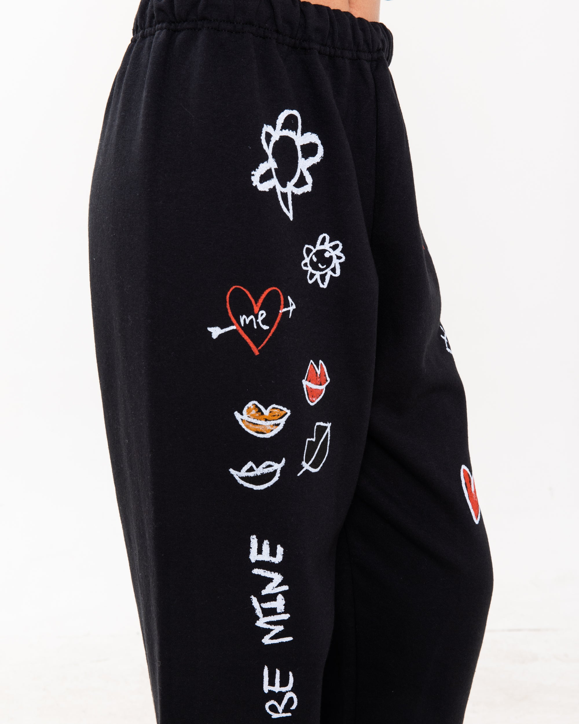 Chalkboard Black Sweatpants