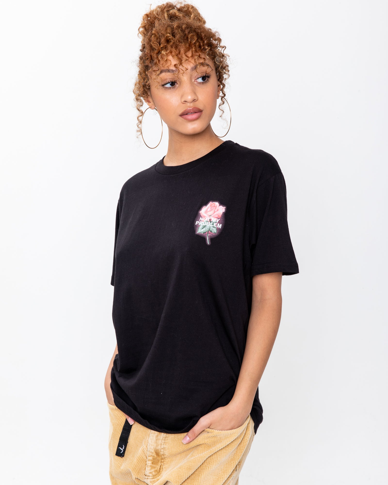 Not My Problem Black Tee