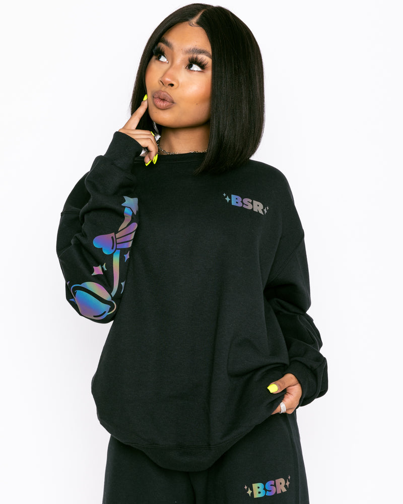 Galaxy Iridescent Crewneck