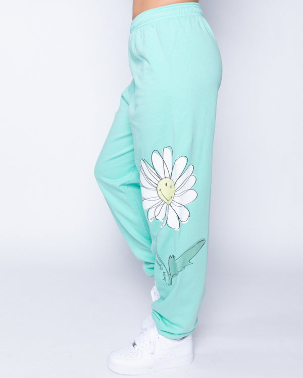 Smiley In Bloom Mint Sweatpants