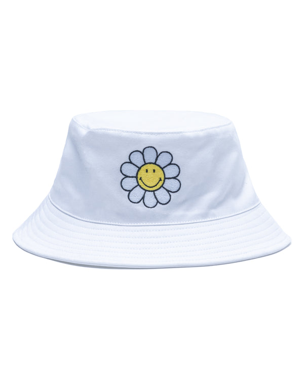 Smiley One Of Those Daze White Bucket Hat