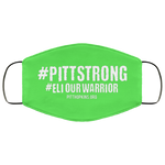 Eli Our Warrior 'Pitt Strong'  Face Mask