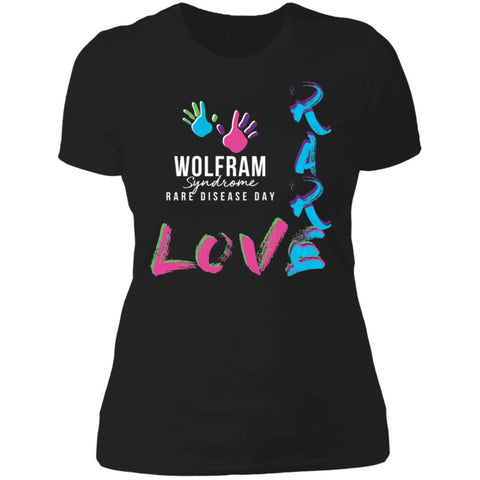 "Wolfram Syndrome ""Love Rare"" Ladies Tee"