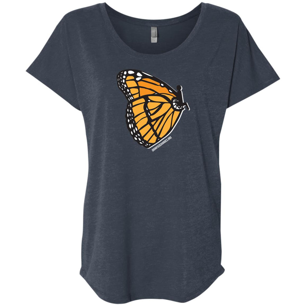 DC Butterfly Ladies Flutter Sleeve Tee