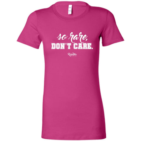 So Rare, Don't Care Fitted Tee
