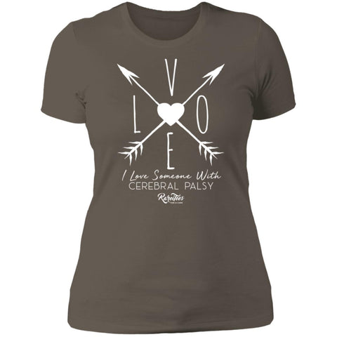 I Love Someone with CP (arrow) Ladies Tee