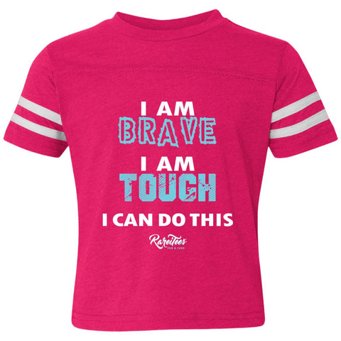 I am Brave & Tough Toddler Striped Tee