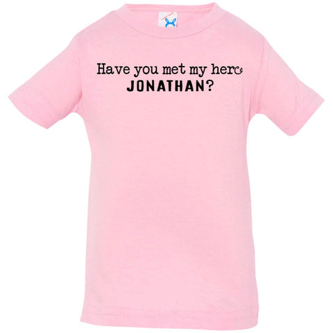 Jonathan Definition of a Hero Infant Tee