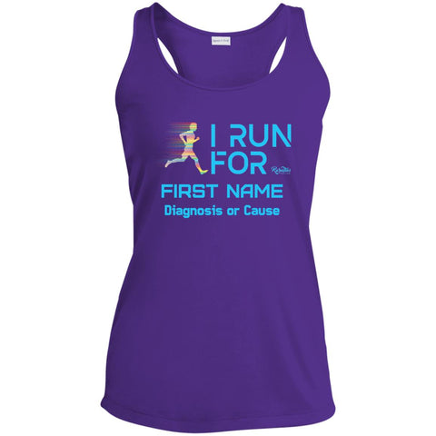 Personalized I Run For Ladies Tank