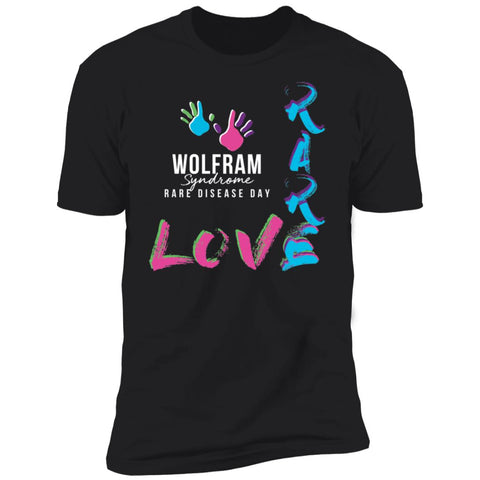 "Wolfram Syndrome ""Love Rare"" Unisex Tee"