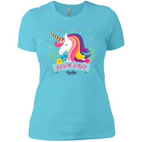 Unicorn Born Rare Ladies Tee