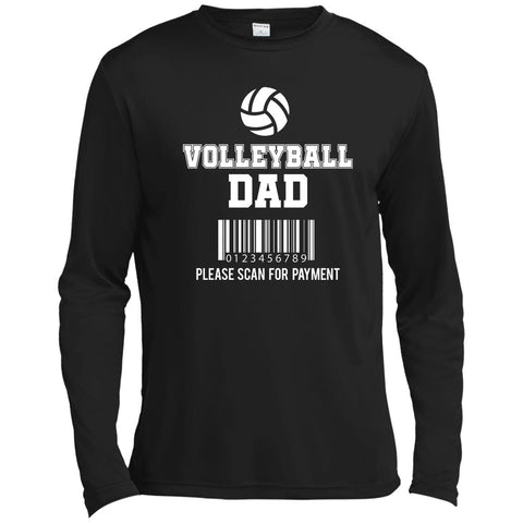 Volleyball Dad Moisture-Absorbing Tall Long Sleeve Tee