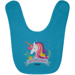 Unicorn Born Rare Baby Bib