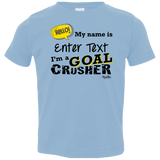 Personalized Goal Crusher Infant/Toddler Tee