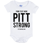 Personalized Pitt Strong Onesie 6 Month