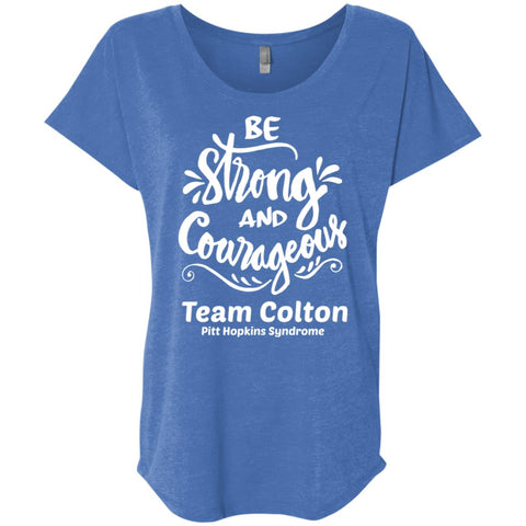 "Team Colton ""Be Strong"" Flutter Sleeve Tee"