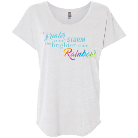Weather the Storm Rainbow Flutter Sleeve Tee