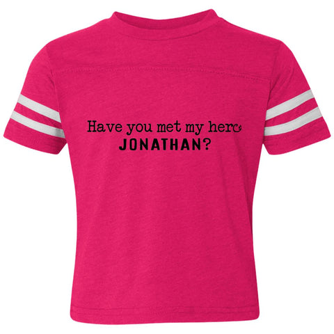 Jonathan Definition of a Hero Toddler Striped Tee