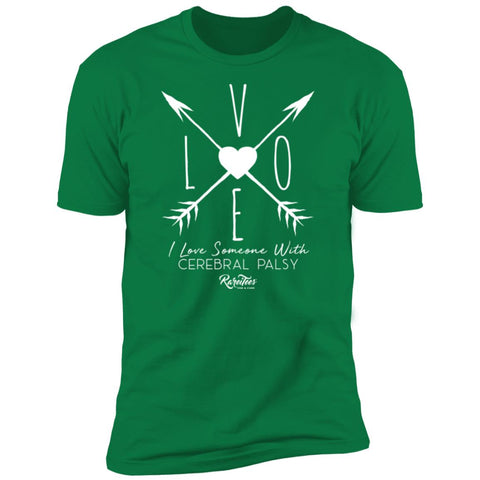 I Love Someone with CP (arrow) Unisex Tee