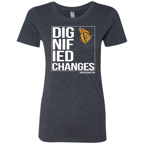 "Dignified Changes ""Box"" Ladies Fitted Tee"