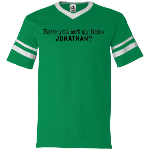 Jonathan Definition of a Hero Unisex Striped Tee