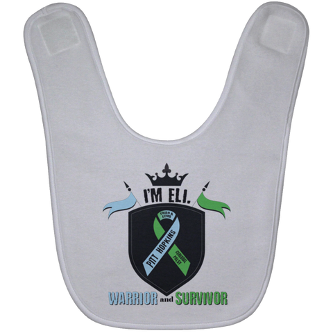 Eli Our Warrior Baby Bib