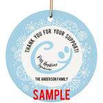 Personalized Ornament Pitt Hopkins Thank You (Smiley)