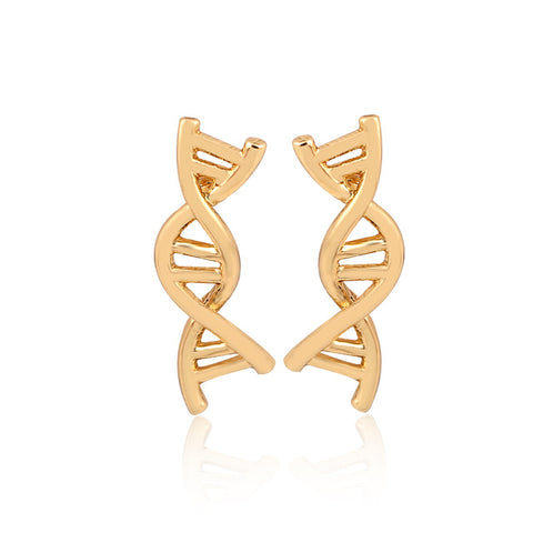 Double Helix DNA Earrings (Stud)