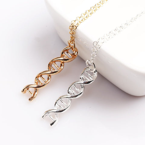 Double Helix DNA Necklace