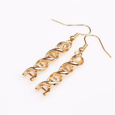 Double Helix DNA Earrings (Dangle)