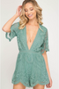 Slate Green Romper Mini