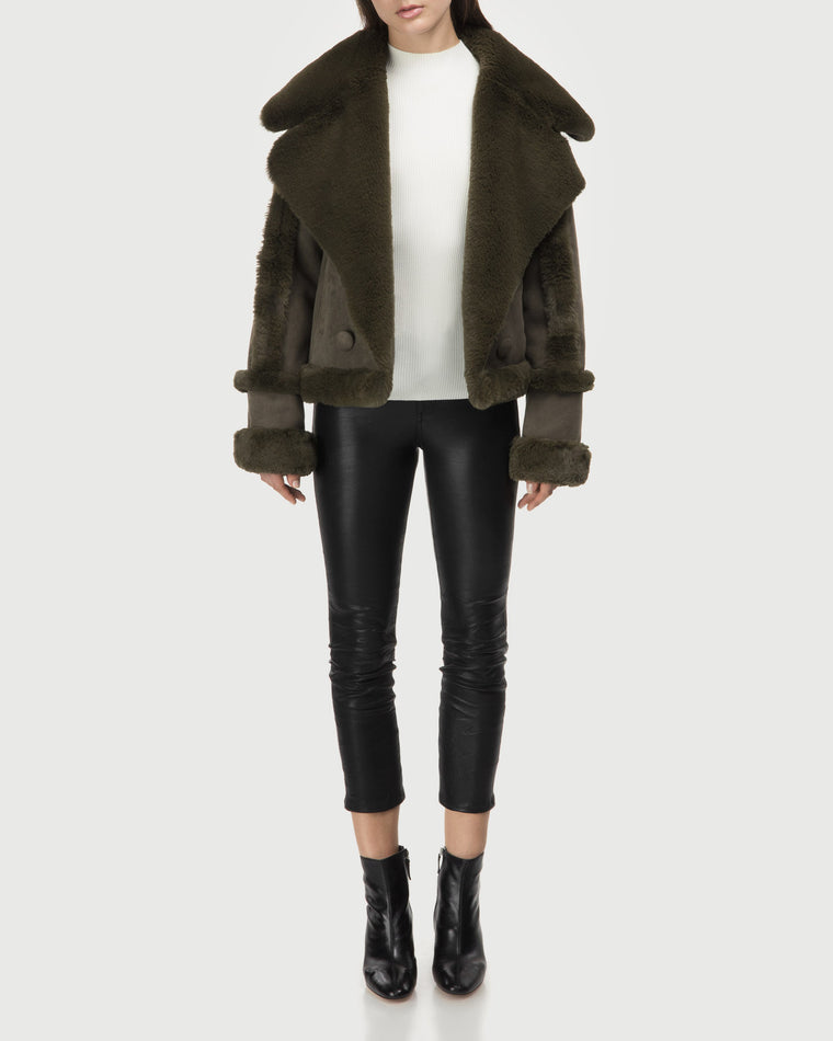 FAUX SHEARLING – Forest