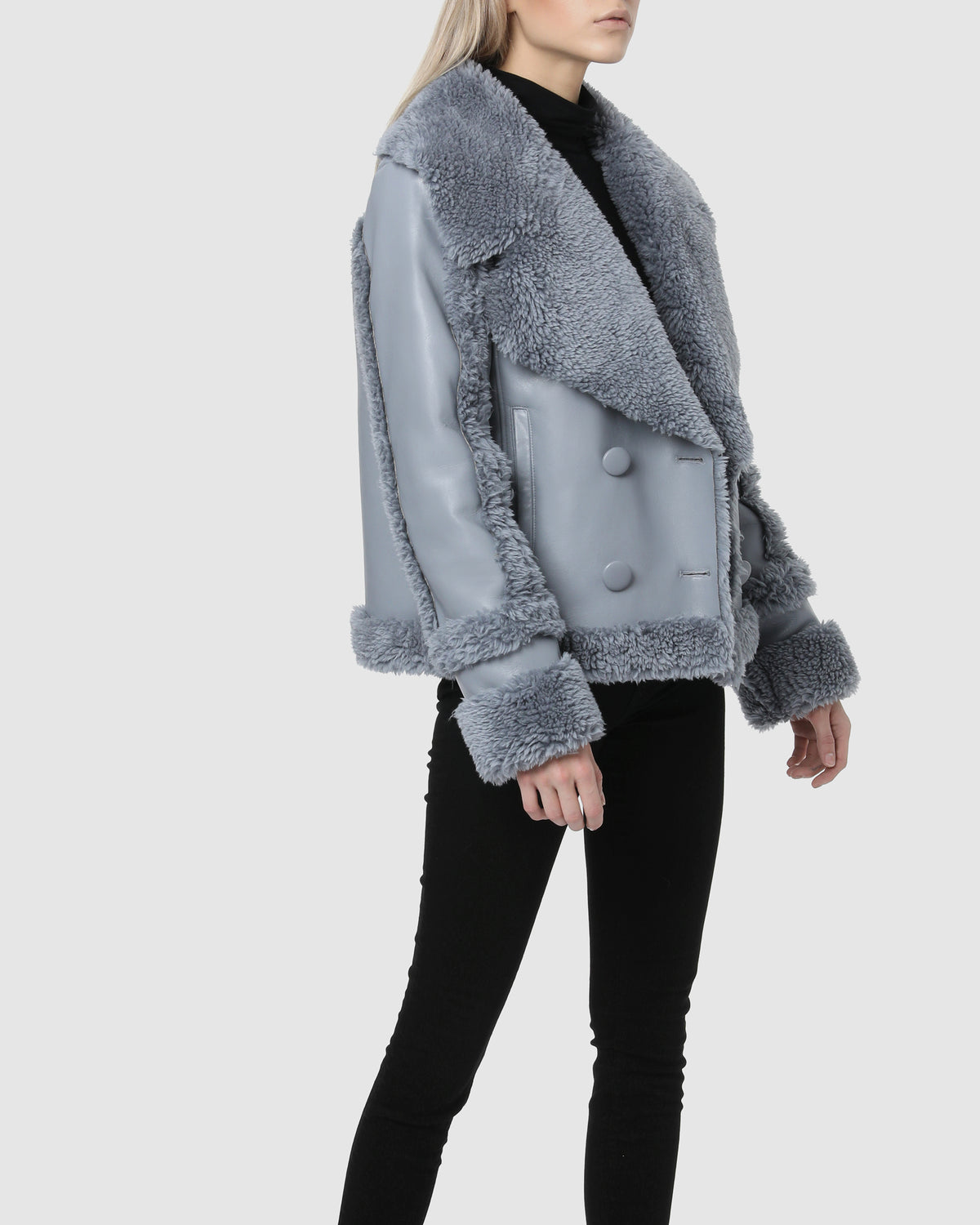 FAUX SHEARLING – Zen Blue