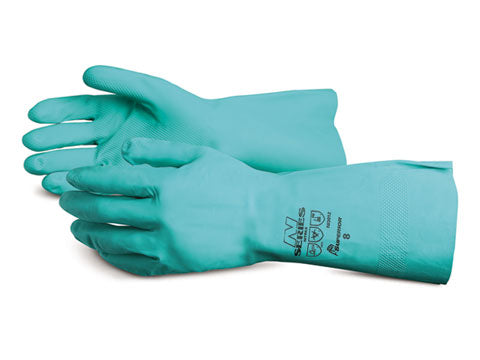 CHEMICAL RESISTANT NITRILE GLOVES -12 pairs