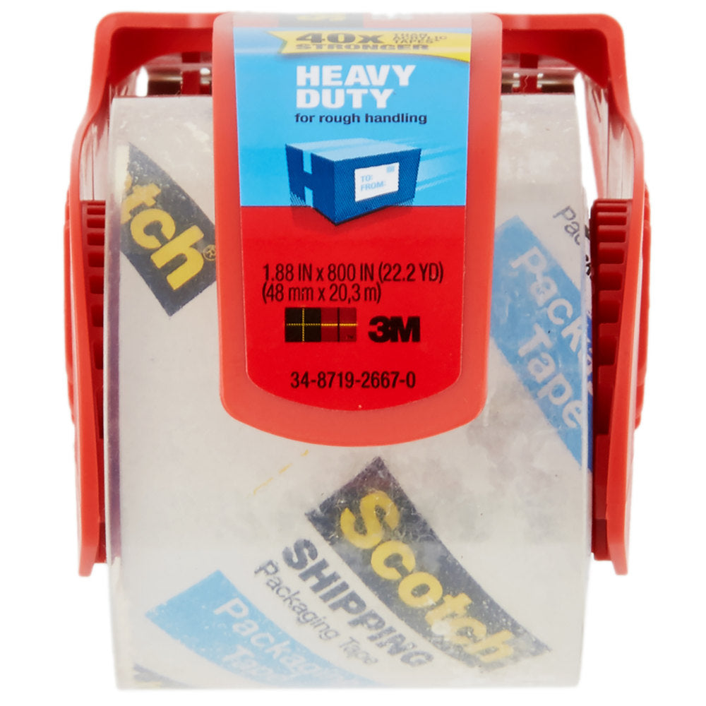 "3M 142 Scotch® 2"" x 22 Yards Heavy-Duty Packaging Tape with Dispenser"