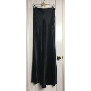 Johanna Johnson haute couture satin maxi skirt sz 6