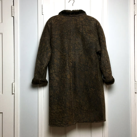 Authentic Vintage Fendi women's oversized shearling coat sz M to XL