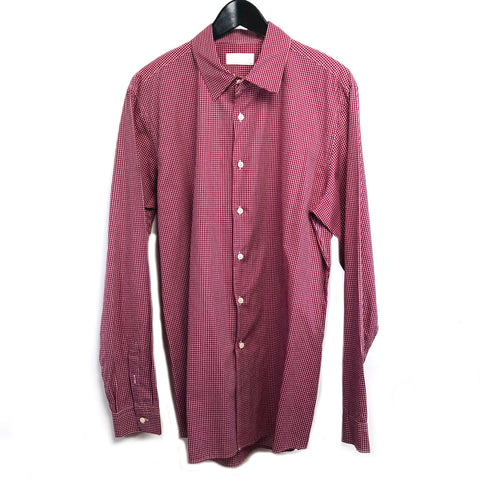 Prada man checks button down shirt sz 43