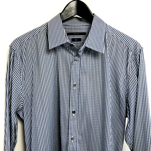 Gucci men's checks button down shirt sz 42