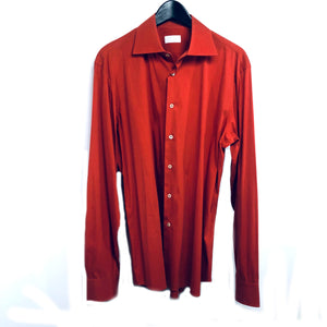 Prada man orange button down shirt sz 42