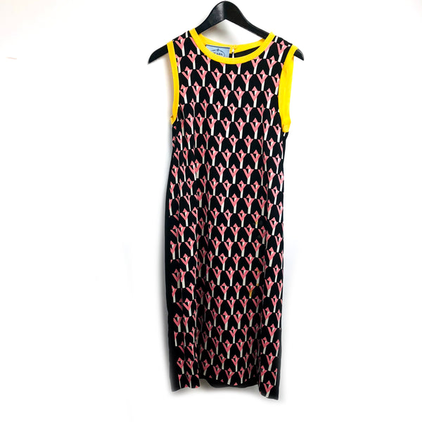 Prada printed midi dress sz 38