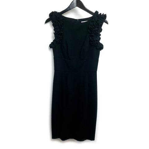 Trina Turk black midi dress sz 0